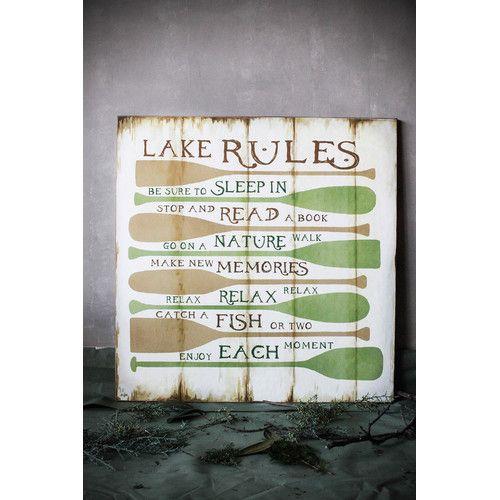 Found it at Joss & Main - Mason Lake Rules Wall Decor