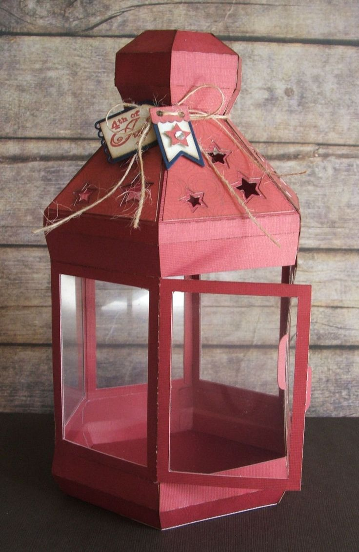 3D Lantern - Perfect for 4th of July Decor! Created by Kimberly using My Craft Spot stamps and metal dies