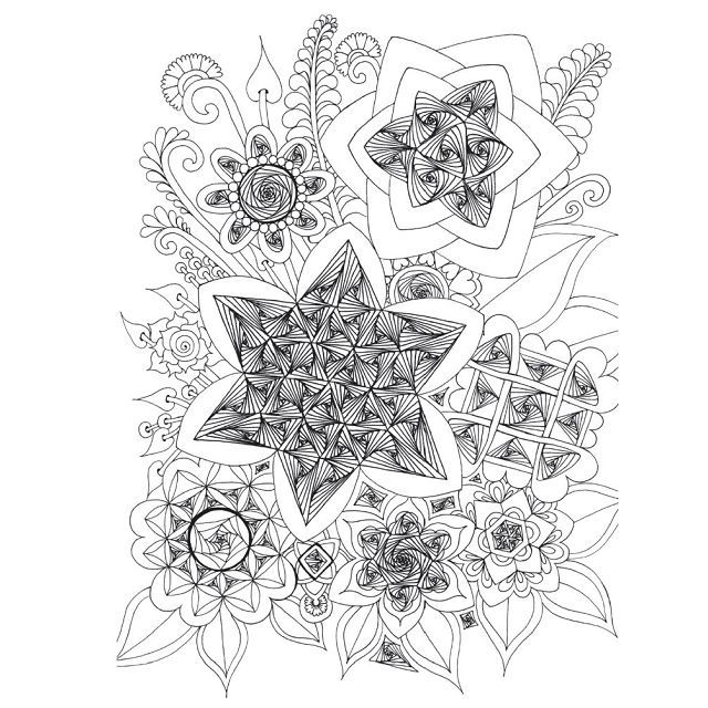 Zen Garden Colouring Book Zentangle Inspired Art By Wei Ling
