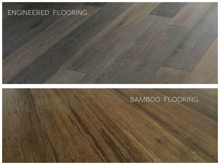 An image comparing Engineered Timber Flooring versus Bamboo Flooring