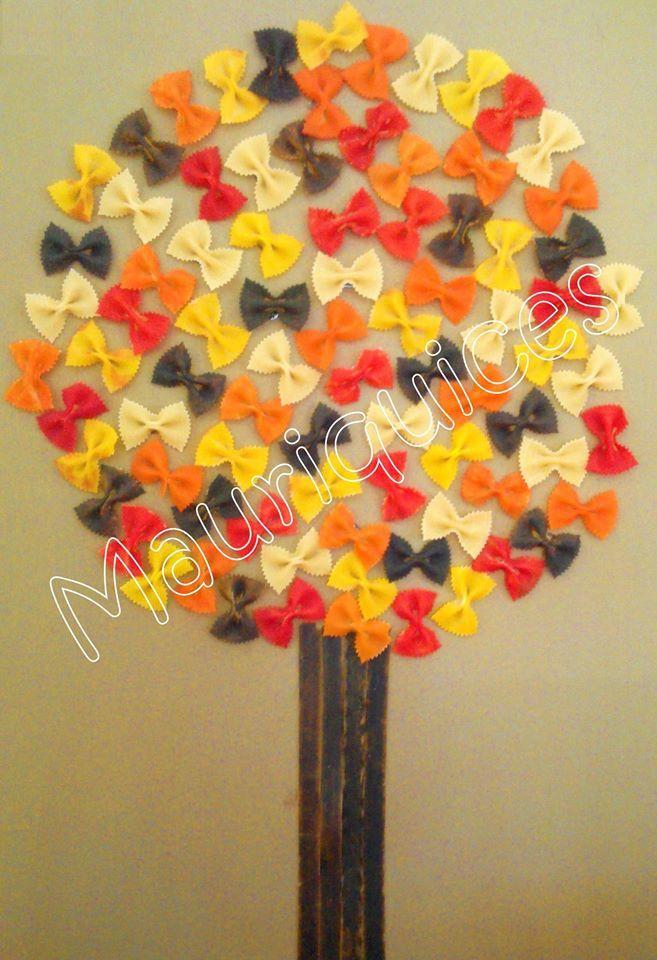 alberi con farfalle
