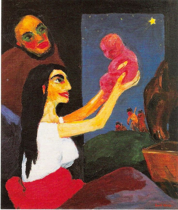 german-expressionists:  Emil Nolde, Heilige Nacht (The Nativity) from Das Leben Christi (The Life of Christ), 1911-1912: Painting