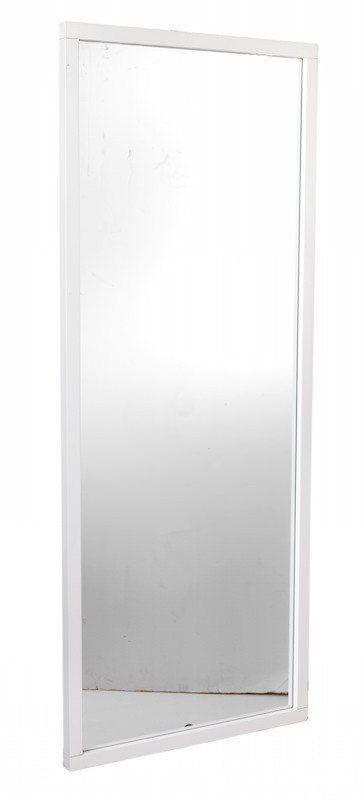 Belina+Spejl+-+Stilfuldt+spejl+med+ramme+i+hvidmalet+birk.+Anvend+spejlet+i+entréen+eller+i+soveværelset.+Spejlets+enkle+look+vil+passe+ind+i+de+fleste+indretningsstile.+