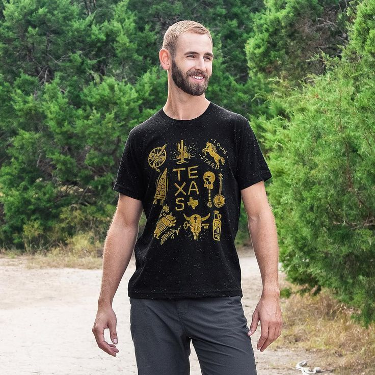 Our Texas tee is in stock! Drop by our shop and snag one. Disclamier: Man not included. Each purchase is for the Texas tee only. If you'd like to mail-order our model he can be reached at 1-800-noo-wayy. His agent/girlfriend says don't bother leaving a message. She says the same goes for you boys too…