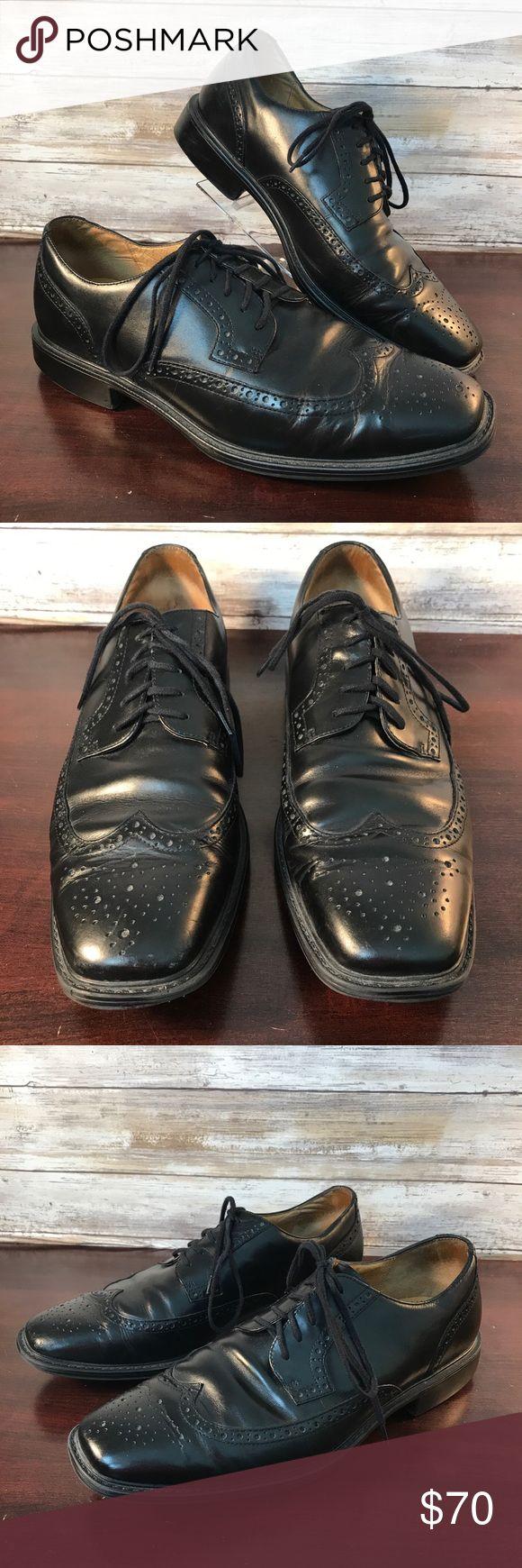 Cole Haan City Mens Size 11M Black Wingtip Cole Haan City Mens Size 11M Black Wingtip Oxford Leather Dress Shoes Lace Up  Great condition as shown Cole Haan Shoes Oxfords & Derbys