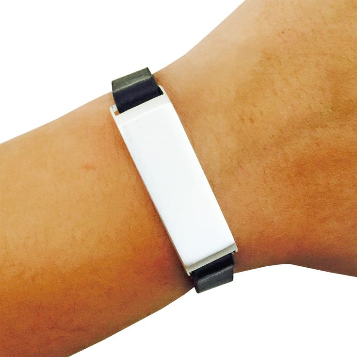 Fitbit Bracelet for FitBit Flex Fitness Trackers - The KATE Single-Strap Brushed Silver and Black Premium Vegan Leather Buckle Fitbit Bracelet by Funktional Wearables