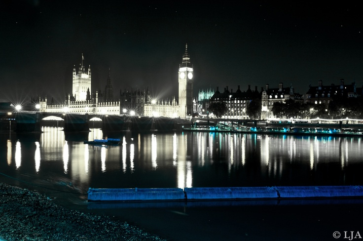Fantastic photograph of London at night Big Ben Westminster Thames  BUY ORIGINAL SIGNED FINE ART PHOTOGRAPHY BY ACCOMPOLISHED PHOTOGRAPHER - L J A Photography Laura - Juliet Ayers