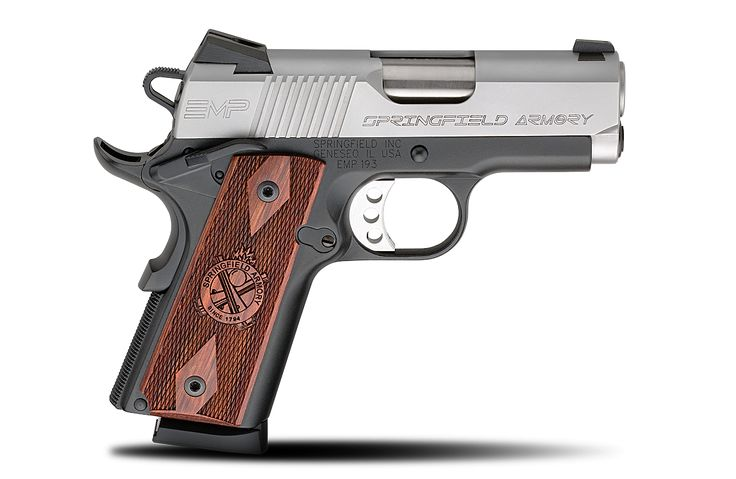 Springfield Armory® has the best pistols for sale at our retailers, including the aluminum-frame 1911 EMP® 9MM handgun, which is ideal for women and men.