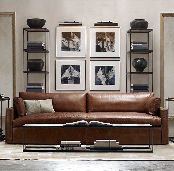 Best Living Room New Sofa Images On Pinterest Leather Couch - Fine leather sofa