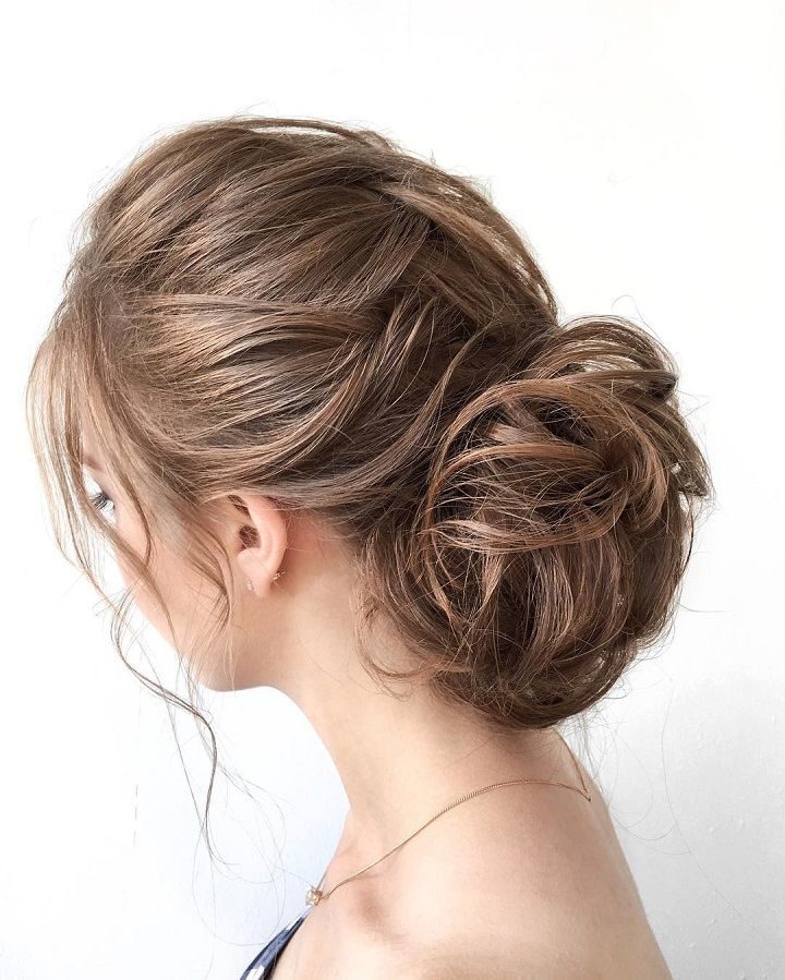 Beautiful messy updo wedding hairstyle idea - wedding hair ,hairstyle ,updo ,messy updo ,hair updo ideas ,hair ideas ,bridal hair ,french chignon ,messy updo hair ,wedding hairstyles ,hairstyles ,hairs ideas