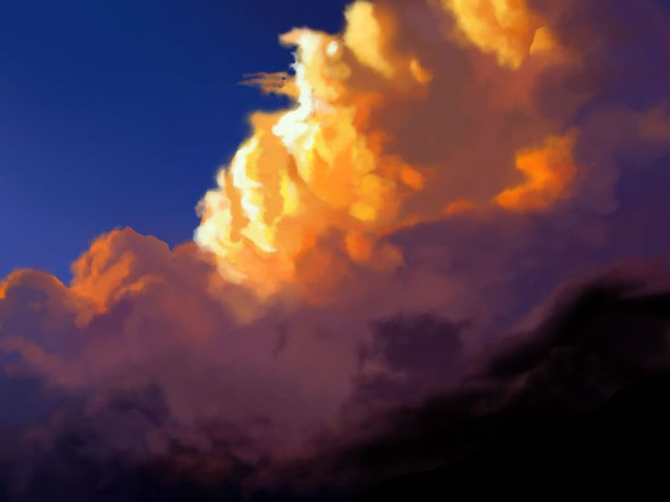speed painting/Kang Min Jeong/40min./cloud