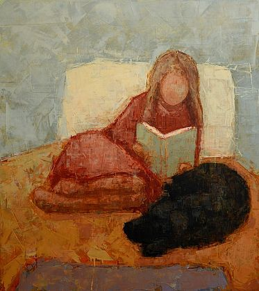 Rebecca Kinkead, Reader No.2, 2013, oil on canvas, 45 X 40 inches