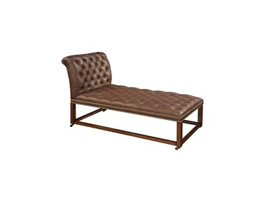 shop for aged regency finished chaise lounge tufted plateau leather upholstery