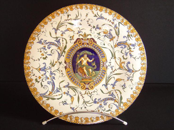 85 best fa ence de gien bleue images on pinterest dinnerware renaissance and belle. Black Bedroom Furniture Sets. Home Design Ideas