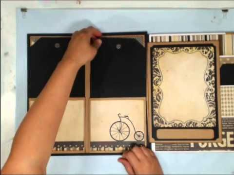 "not so mini! 12 x 12 custom made ""mini"" album format - Super fabulous project! Scrapbook - Retrospection 365"