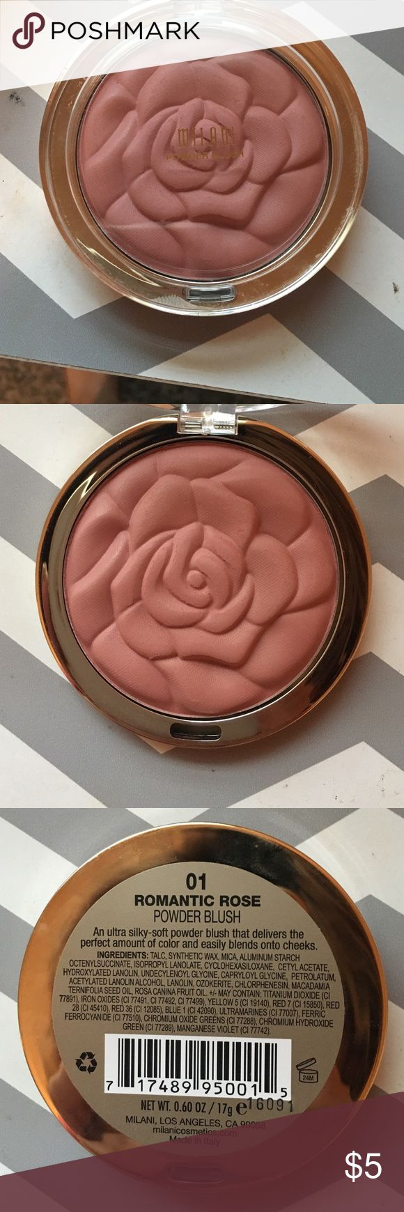 Milani Blush Milani blush in the color romantic rose. Never used just swatched. Milani Makeup Blush