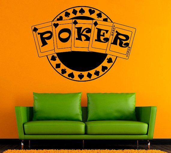 Carte da poker Vinyl Decal Poker Card Wall Sticker da parete in vinile di decalcomanie parete Decor /9drw/