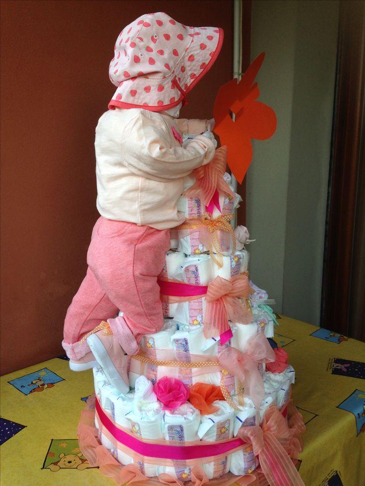 torta pannolini bimba 2