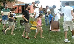 Musical Chairs - I loved this game!  Always a hit at Bible School, MYF (Methodist Youth Fellowship) and birthday parties.  :)