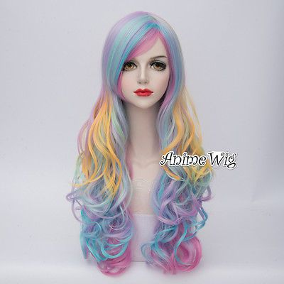 10-Colors-65cm-Lolita-Heat-Resistant-Cosplay-Curly-Anime-Fancy-Dress-Wig-Cap