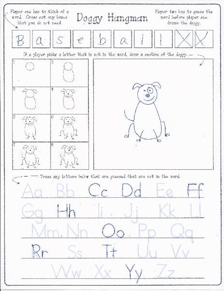 practice handwriting and step by step drawing with this freebie doggy hangman pediatric. Black Bedroom Furniture Sets. Home Design Ideas