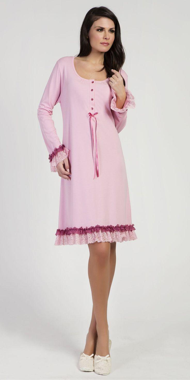 Nightgown 100% Cotton | Nightgowns| Vamp! Nightgown 100% Cotton 5137