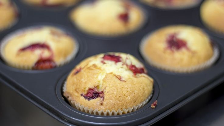 Muffin ai frutti di bosco, cheesecake muffin ricetta, dolci americani