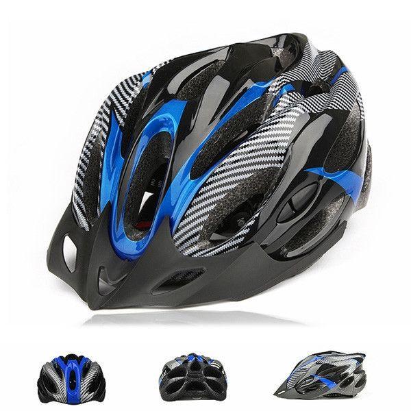 Новый СИНИЙ Безопасности Велосипедный шлем Для Взрослых мужская Велосипед шлемы Велосипедов Углерода Защитный Шлем 19 Отверстия Новый Бесплатная Доставка