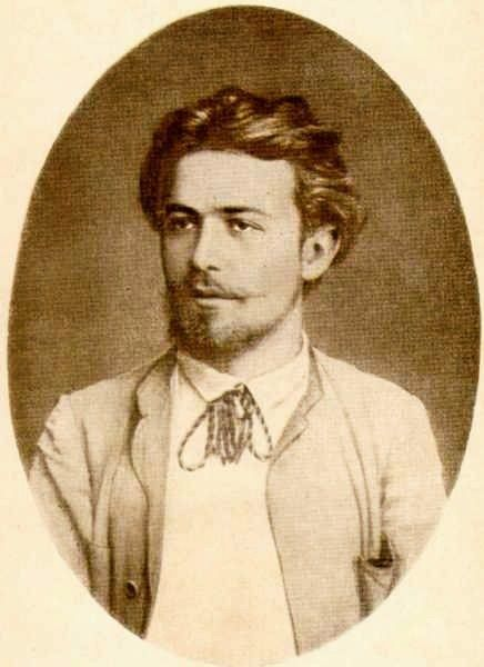 A young Anton Chekhov (1860-1904). Famous Russian playwright and considered one of the greatest short fiction writers of all time.