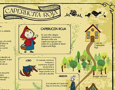 Echa un vistazo a este proyecto @Behance: \u201cInfografía cuento infantil Caperucita Roja.\u201d https://www.behance.net/gallery/26584229/Infografia-cuento-infantil-Caperucita-Roja
