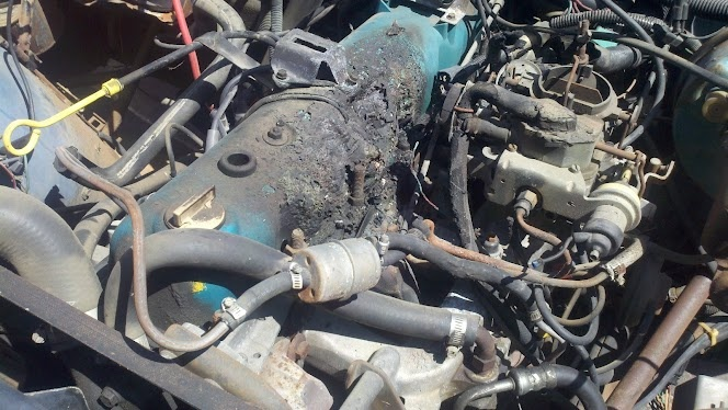 Cars For Sale Austin Tx >> 258 Engine fire -Plastic Valve Cover melted -Vacuum/elect. damage -caused by loose fuel line ...