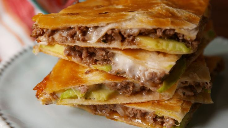 Ultimate Quesadilla with ground beef  - Delish.com