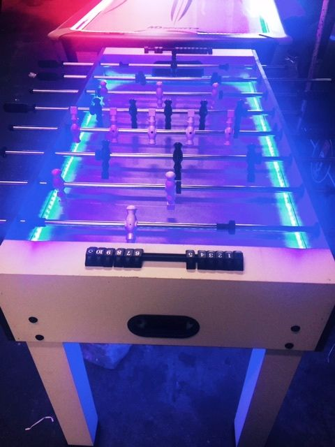 Glow In The Dark Foosball Table Neon Light Rentals Chicago Party