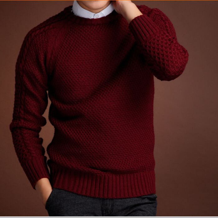 Men Sweaters Pollovers Jumpers Tops 2015 Thick Warm Fashion New Design Slim Fit Casual Knitted Blusas Masculina Knitwear ZHY1924