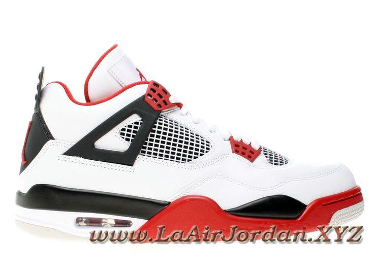Nike Air Jordan 4(IV) Retro 308497-110 Fire Red Chaussures pour Homme En France