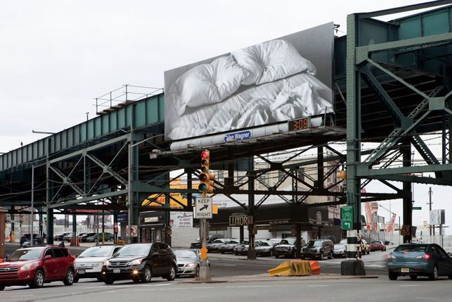 "Felix Gonzalez-Torres. ""Untitled."" 1991. Billboard, dimensions vary with installation."