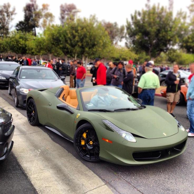 matte green ferrari 458 spider ferrari pinterest pictures green and ferrari 458 - Ferrari 458 Spider Green