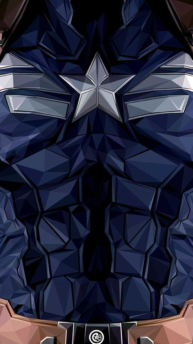 Captain America Body Armour iPhone Wallpaper