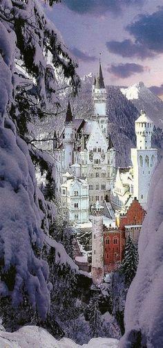 Castillo de Neuschwanstein Invierno, Alemania