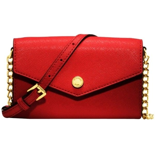 Pre-owned Michael Kors Electronics Phone Red Cross Body Bag ($124) ❤ liked on Polyvore featuring bags, handbags, red, michael kors bags, pre owned handbags, crossbody bags, crossbody purse and red handbags
