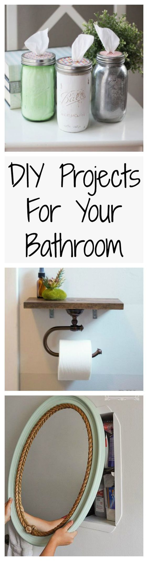 Your bathroom should be just as pretty as all the other rooms in your house, and these easy DIY projects could help make that happen.                                                                                                                                                                                 More #EasyHomeDécor,
