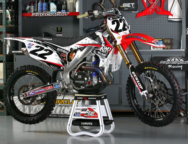 Factory Bike Friday: Team Two Two Racing Honda CRF450R - CHAD REED!!