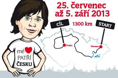 Mé srdce patří Česku - běh kolem ČR
