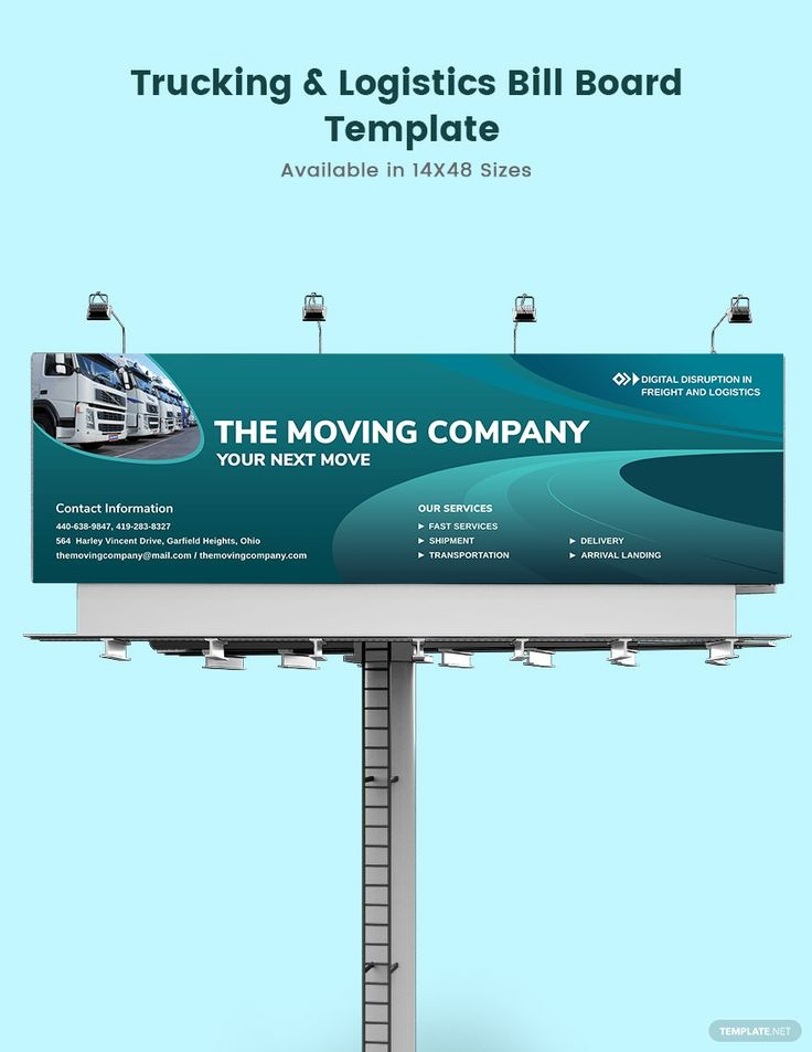 Trucking Logistics Billboard Template Free Psd Illustrator Indesign Apple Pages Template Net Billboard Presentation Design Logistics