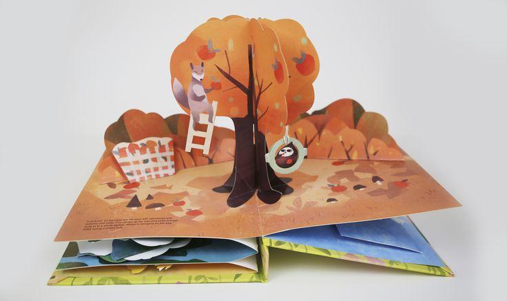 Поп ап объемные открытки осень