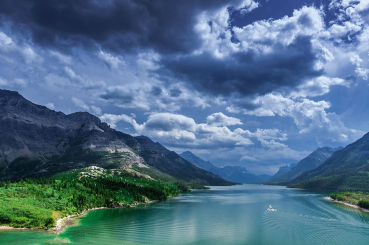 Earth Lake  Cloud Valley Landscape Nature Waterton Lakes National Park National Park Canada Mountain Forest Wallpaper