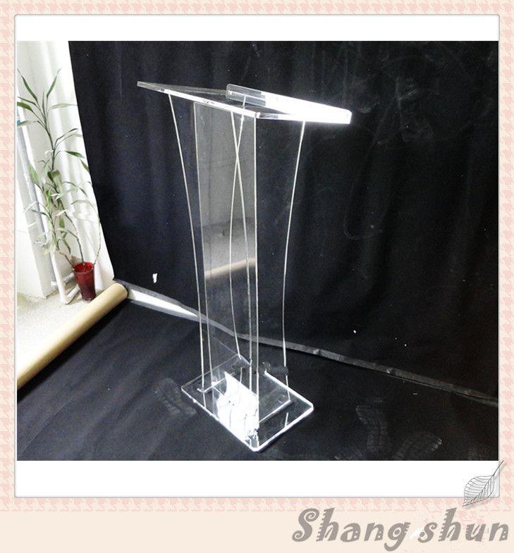 Free shipping plexiglass lectern for church acrylic rostrum lectern cheap podiums/ lectern podium