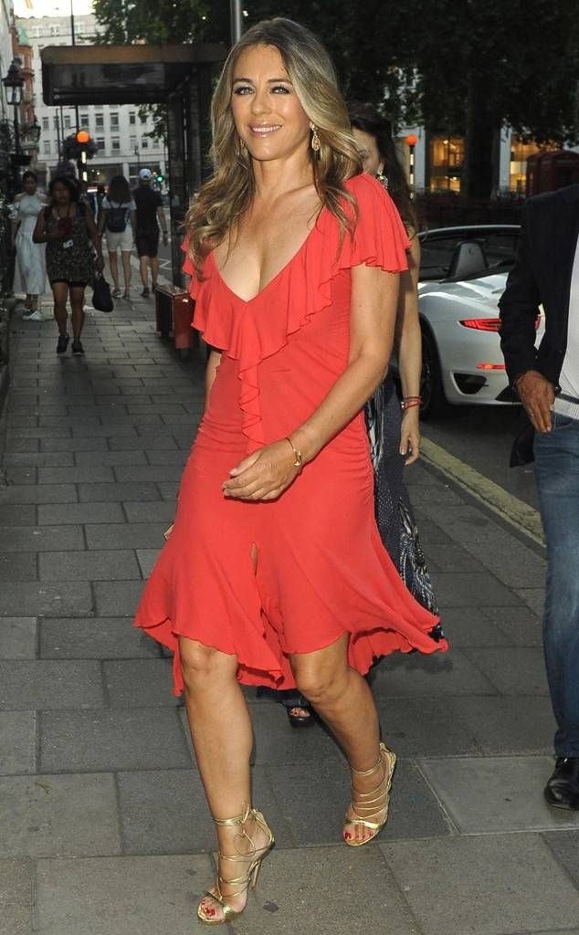 Elizabeth Hurley From The Big Picture Today S Hot Photos In 2020 Elizabeth Hurley Hurley Street Style Dress