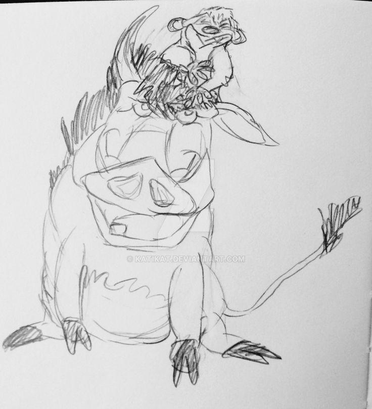 Timon  Pumbaa - hey my turn! by katikat on @DeviantArt