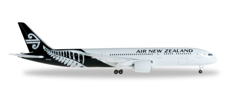 Herpa Wings Air New Zealand 787-9 1:500 Black:White Livery Model Airplane
